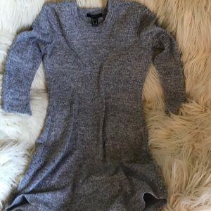 Gray short long sleeve dress
